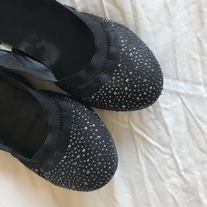 Shoes - Black with Silver Detail Flats